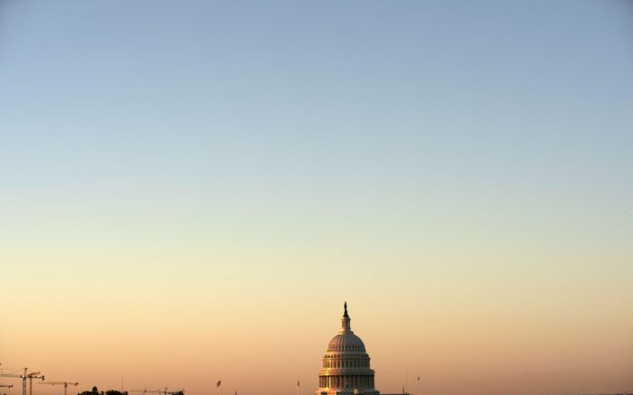 The U.S. Capitol is seen on a sun rise in the third-day of the confirmation hearing of Supreme Court nominee Amy Coney Barrett before the Senate Judiciary Committee, on Capitol Hill, Wednesday, Oct. 14, 2020, in Washington. (AP Photo/Jose Luis Magana)