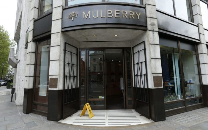 Mulberry profits. File photo dated 29/4/2014 of the Mulberry store in Knightsbridge, London as the luxury handbag maker has reported rising full-year profits, helped by an increase in tourists taking advantage of the weak pound. Issue date: Wednesday June 14, 2017. The company said pre-tax profits in the year to March 31 rose 21% to £7.5 million, while revenue was up 8% to £168.1 million. See PA story CITY Mulberry. Photo credit should read: Jonathan Brady/PA Wire URN:31692159