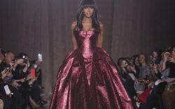 Model Naomi Campbell walks the runway
