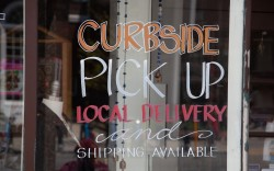 Curbside pickup local delivery and shipping
