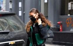 Bella Hadid is seen arriving home