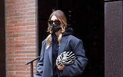 Hailey Bieber is photographed leaving her