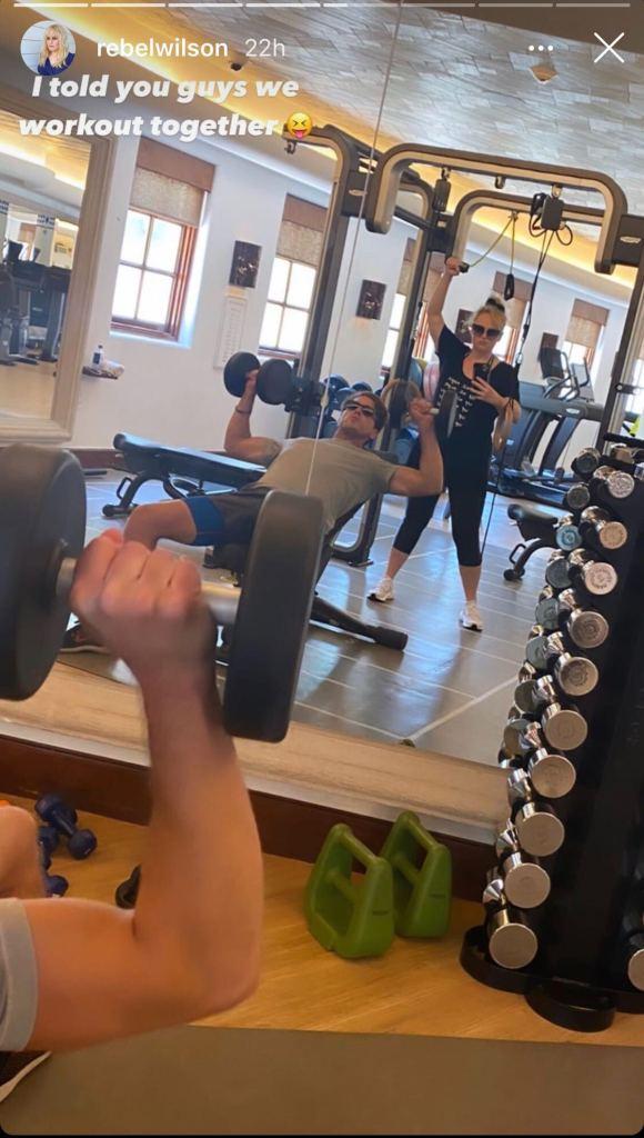 rebel wilson, workout, leggings, sneakers, boyfriend, jacob busch