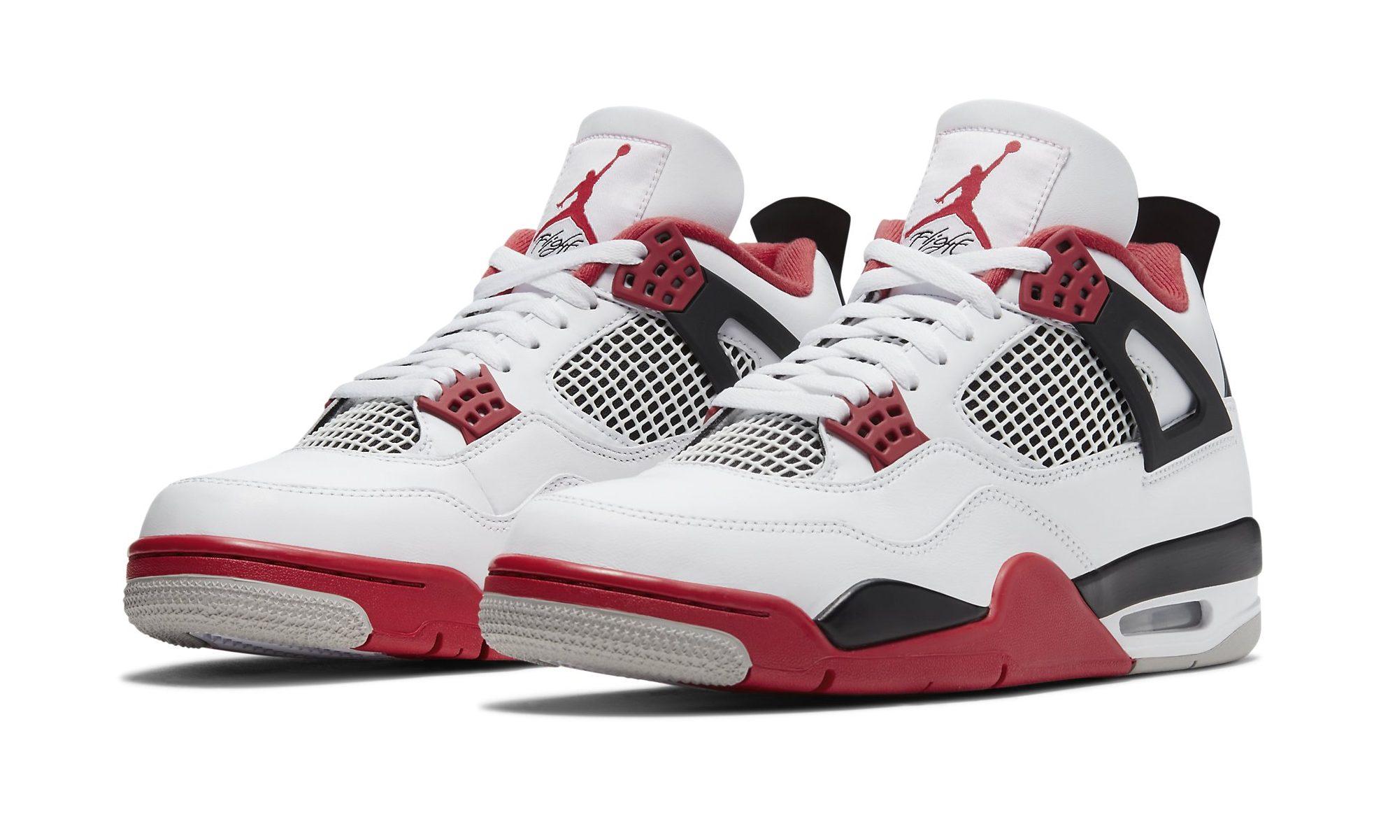 Air Jordan 4 'Fire Red' Shock Drops on