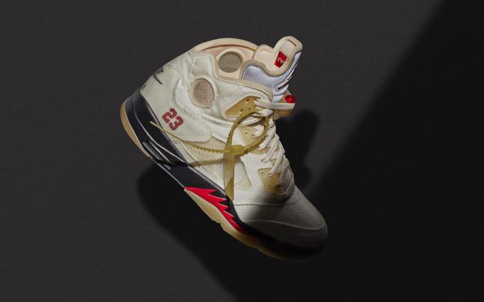Off-White x Air Jordan 5 Retro 'Sail'