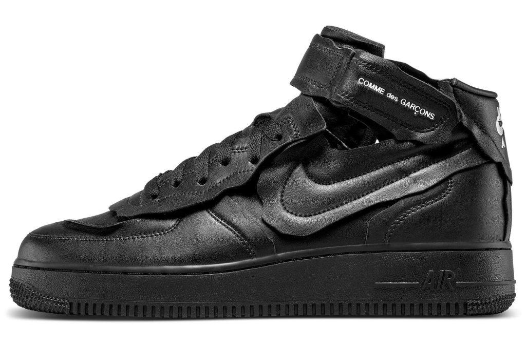 Comme des Garcons x Nike Air Force 1 Mid 'Black'