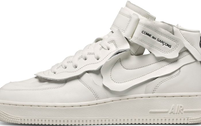 Comme des Garcons x Nike Air Force 1 Mid 'White'