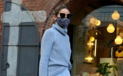 Olivia Palermo pictured wearing a light