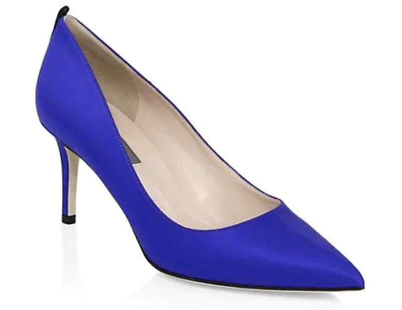 sjp collection, blue heels, pumps