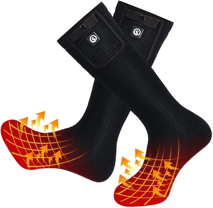 Snow Deer Electric Heated Socks