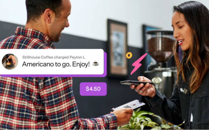 Example merchant venmo for business transaction contactless