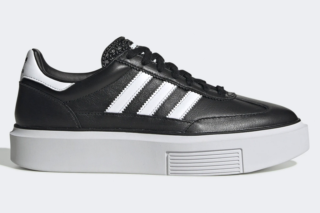 adidas, sneakers, low-top, super sleek, sleek super, 72, white, black