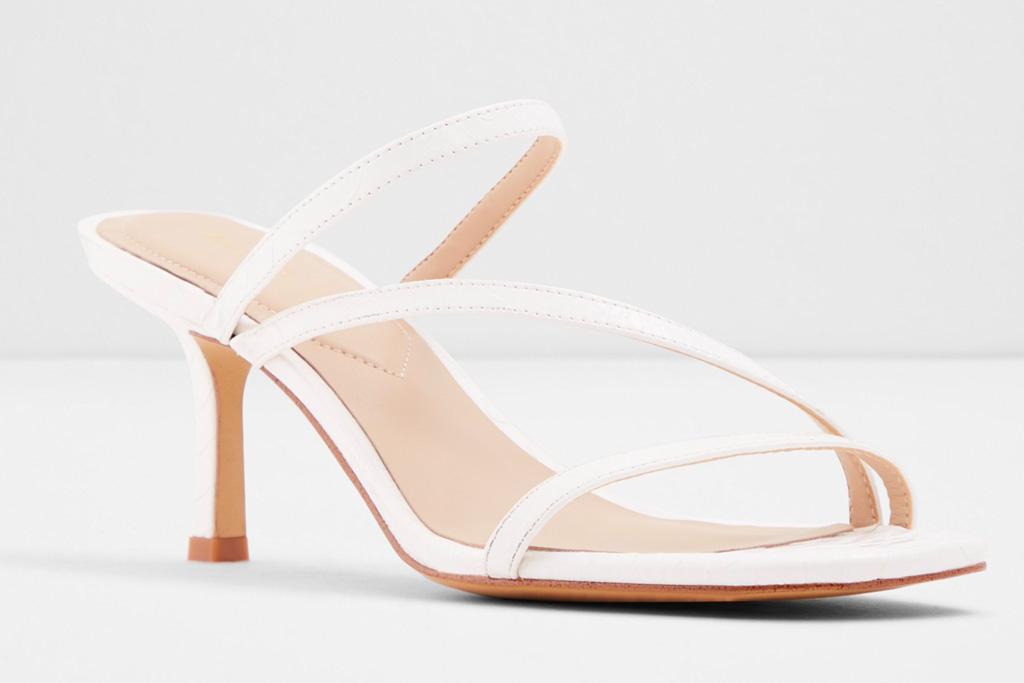 sandals, white, square toe, aldo