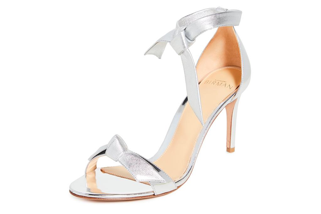 silver sandals, heels, stiletto, alexandre birman