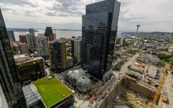 Images of Amazon's campus in Seattle,