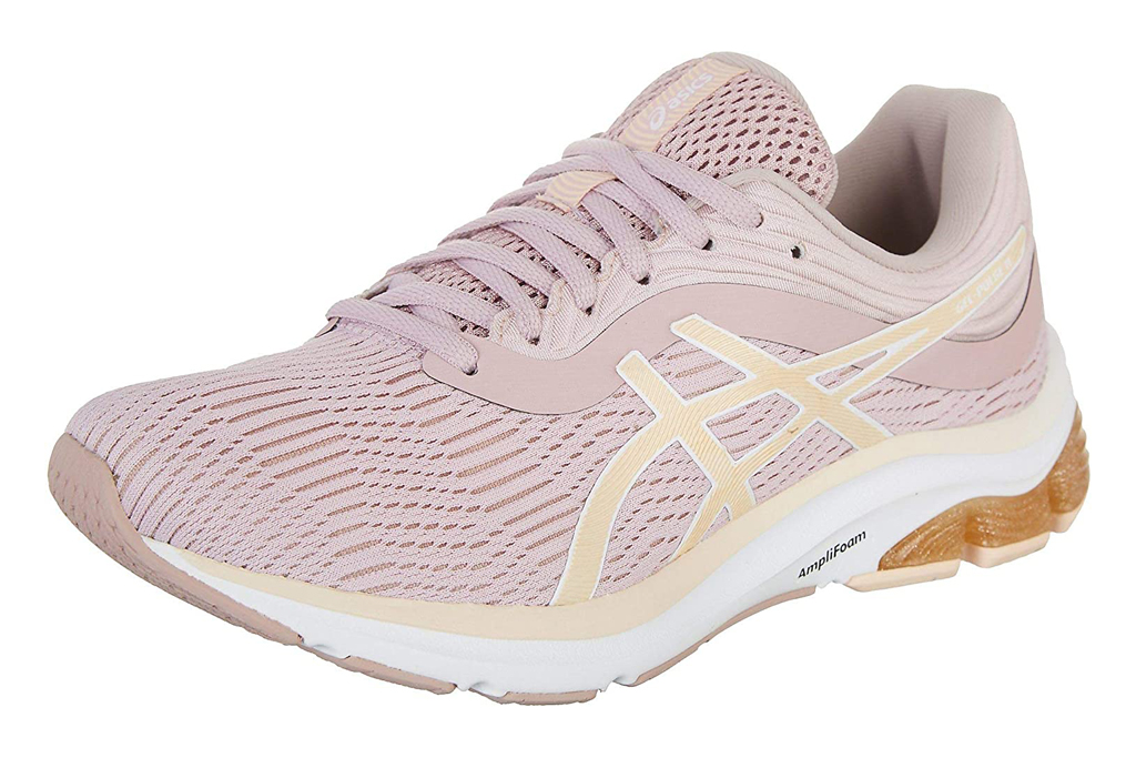 sneakers, womens, pink, blush, running shoes, asics
