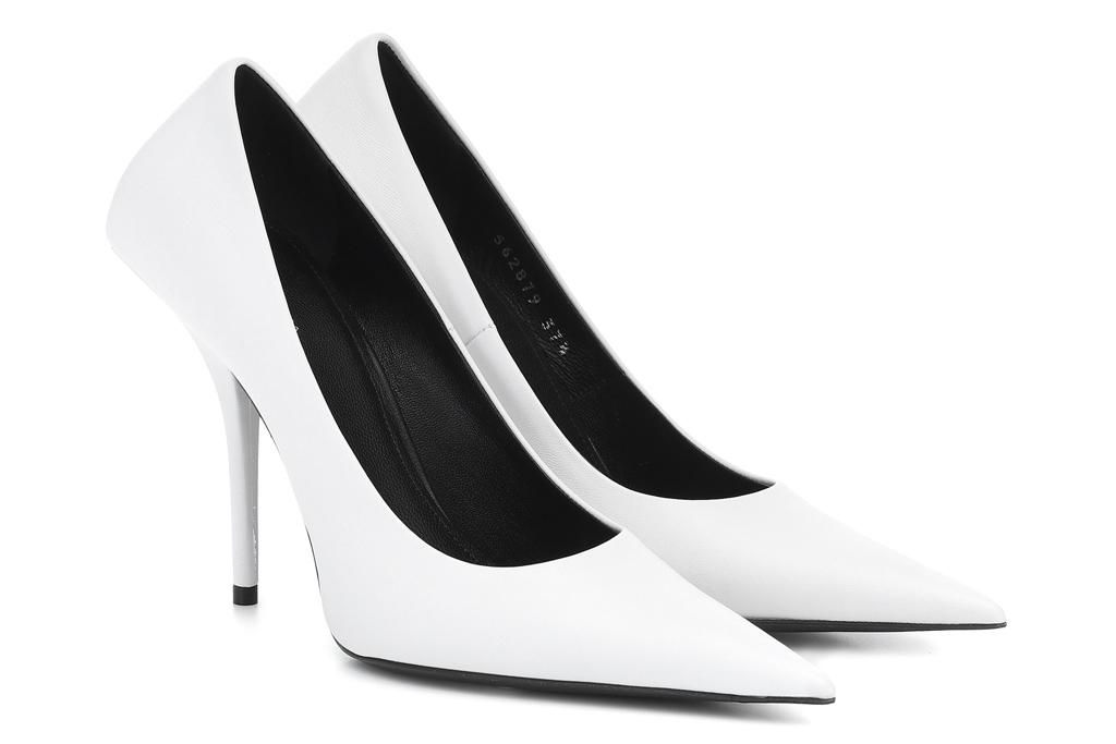 balenciaga, white pumps, heels