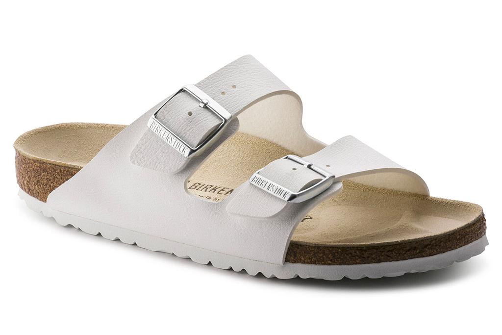 birkenstock, sandals, birko-flor, white, white outsole, cork