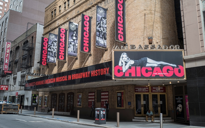 Broadway shows remain closed for the year as New York reported a spike in its rate of new Covid-19 (Coronavirus) cases today including a rise in New York City and in its northern suburbs on Monday, September 28, 2020 in Manhattan, New York. (Alex Menendez via AP)