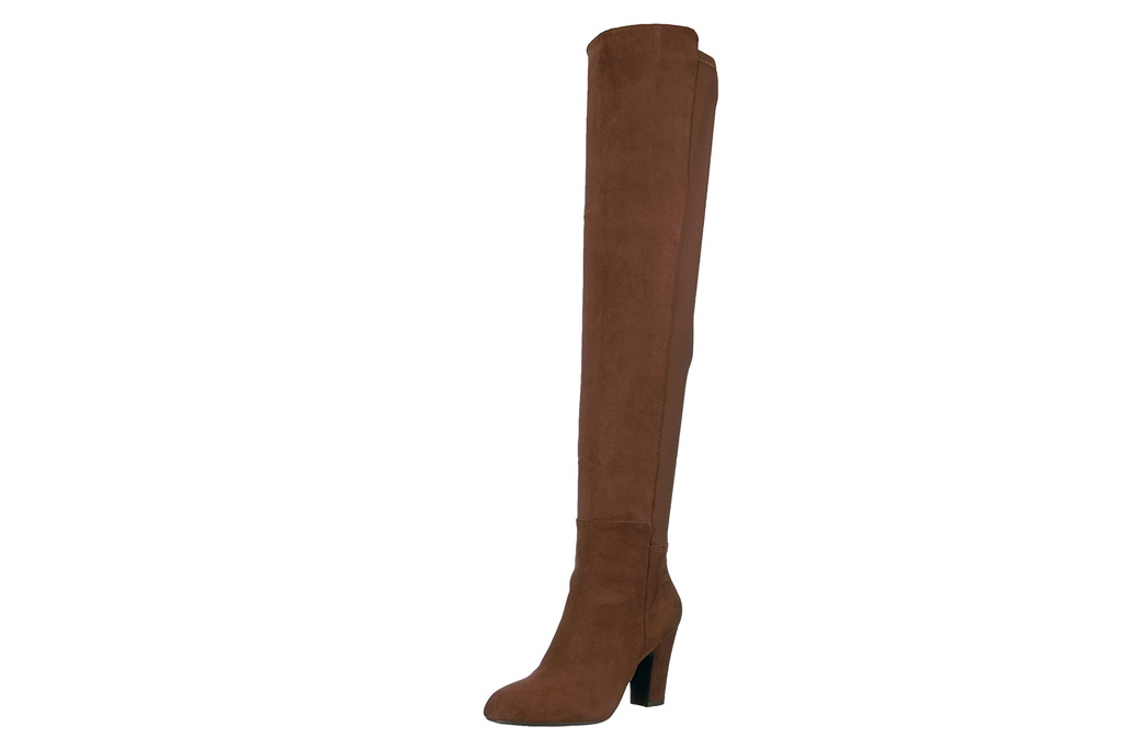 boots, thigh-high, suede, brown, chinese laundry