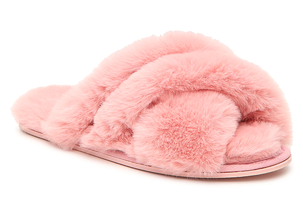pink, slides, furry, chinese laundry