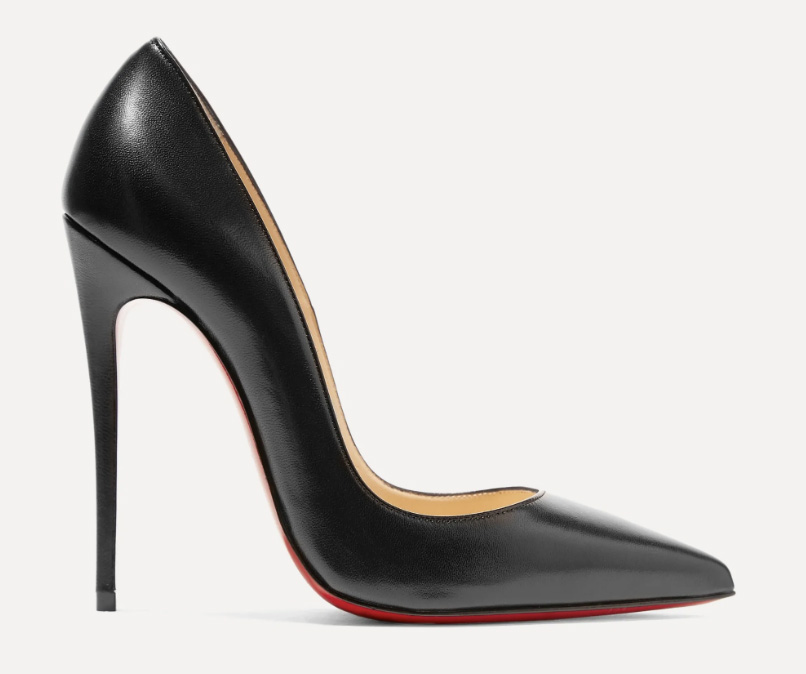 christian louboutin, black heels, pumps, leather