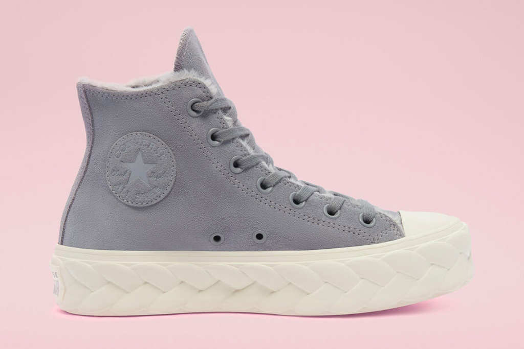 converse, cozy club, sneakers, fuzzy, shearling, chuck taylor