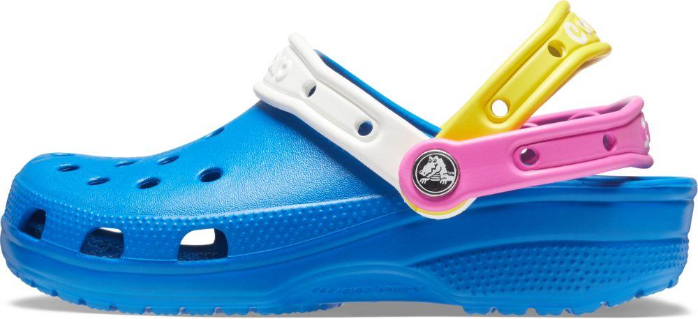 crocs, croc day, croctober, colorful, blue, orange, straps