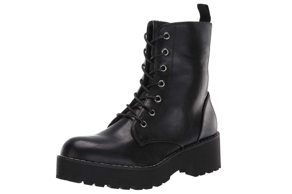 combat boots, black, platform, dirty laundry