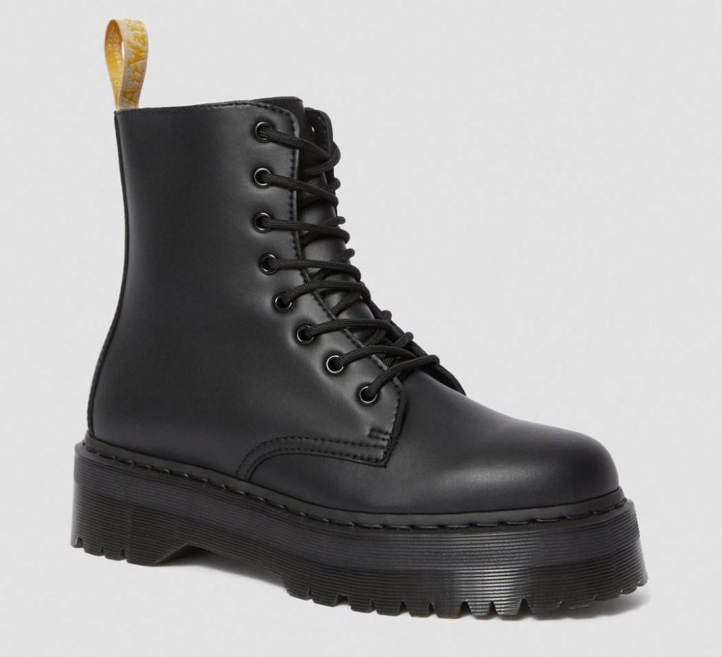 combat boots, black, platform, dr martens