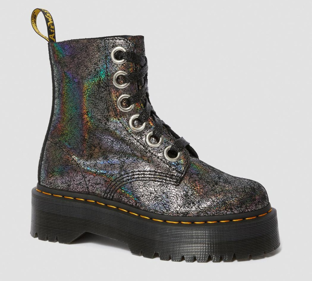 boots, combat boots, glitter, rhinestone, dr martens