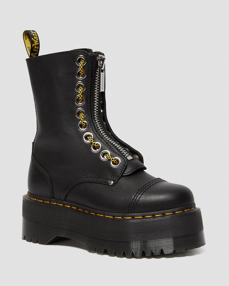 dr martens, boots, black, leather
