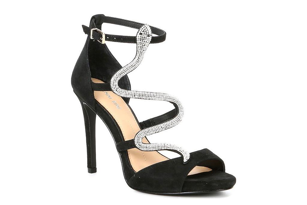 black, heels, sandals, glitter,  gianni bini