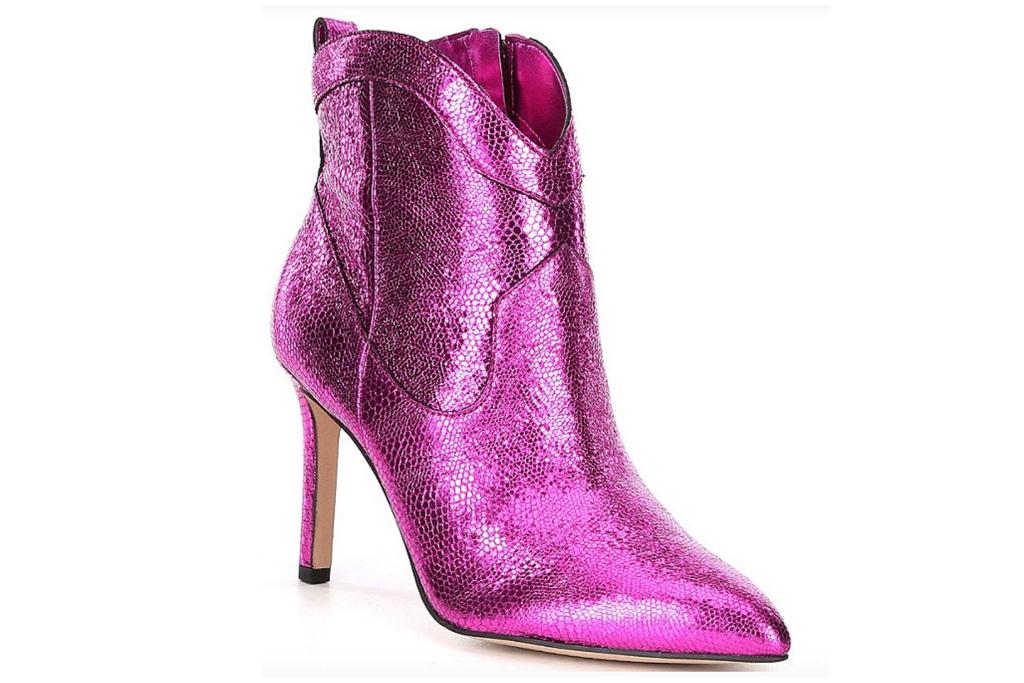 pink boots, metallic, pink, gianni bini