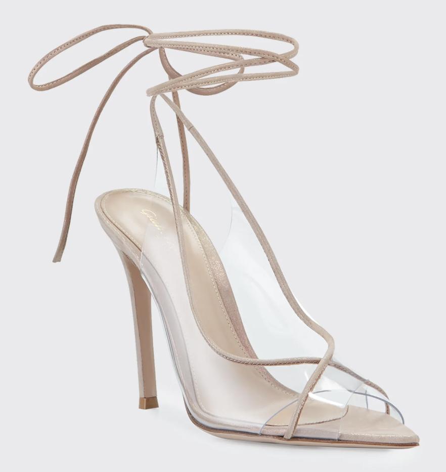 gianvito rossi, pvc heels, heels,
