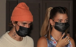 justin bieber, hailey baldwin, jumpsuit, sneakers,
