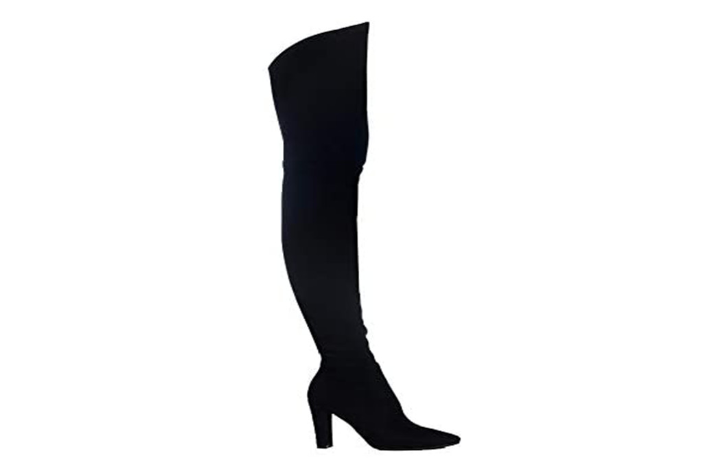 over the knee boot, black boots, halloween boots