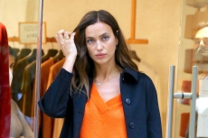 Irina Shayk Wears Quintessential Fall Boots With This Unusual Outfit Pairing in NYC