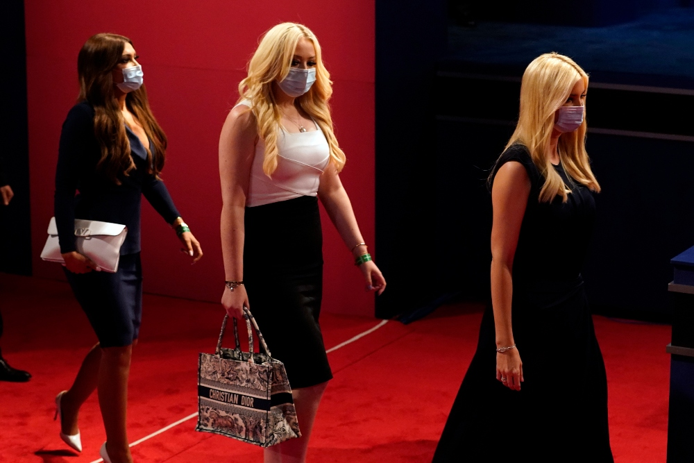 ivanka trump, tiffany trump, Kimberly Guilfoyle, dress, heels, presidential debate
