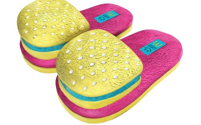 j balvin, mcdonalds, slippers