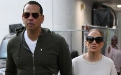 alex rodriguez, jennifer lopez, sweatpants, sneakers