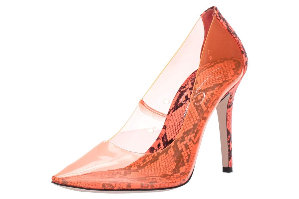 pvc heels, sandals, pink, jessica simpson