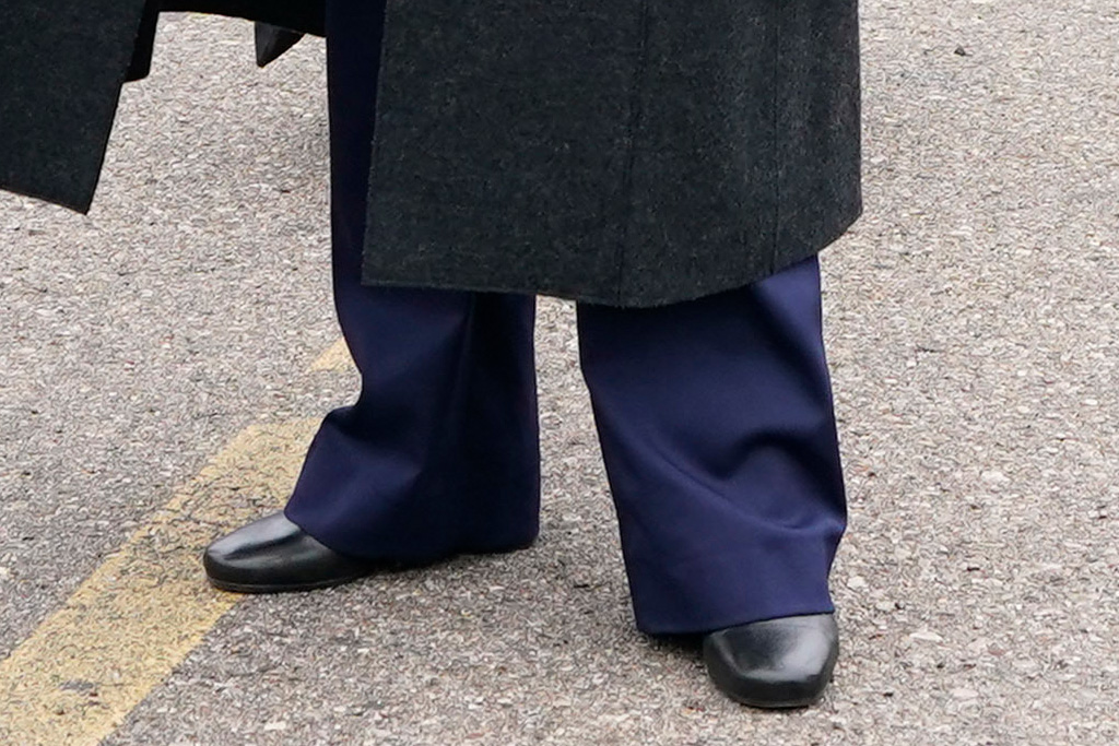 kamala harris, boots, coat, suit, style