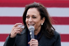 Kamala Harris Gives a Lesson in Fall Layering in a Cozy Coat & Square-Toe Boots