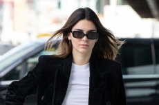 Kendall Jenner Does the Square Toe Sandal Trend in a Breezy Top and Trousers for Calvin Klein