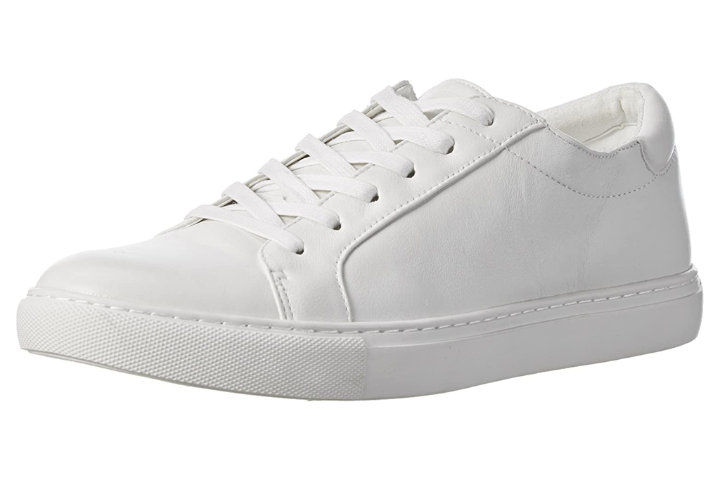 white sneakers, shoes, low-top, kenneth cole