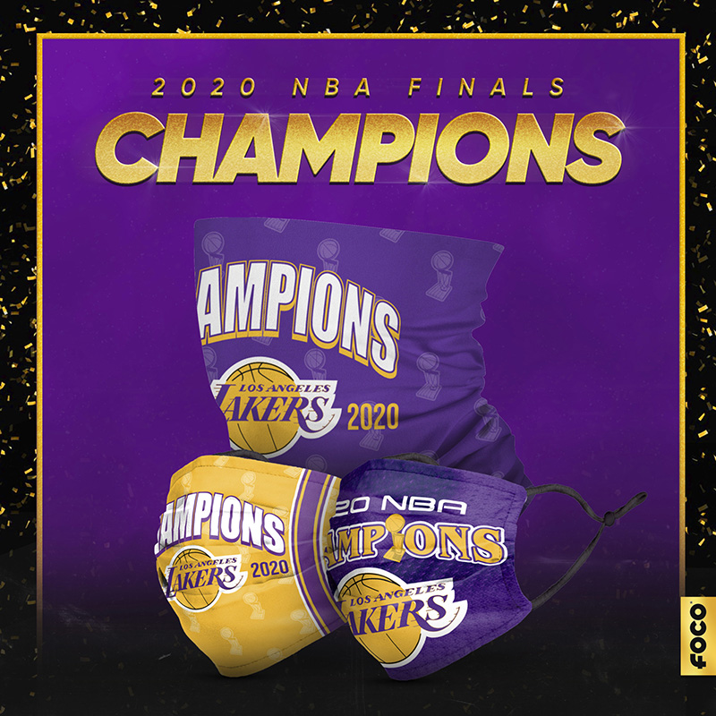 los angeles, lakers, face mask, champion, 2020, backpack