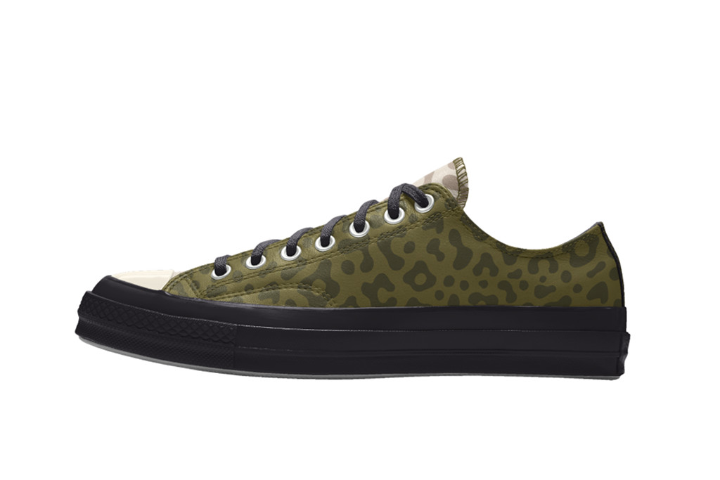 leather leopard converse, low top leopard print converse, leopard print converse