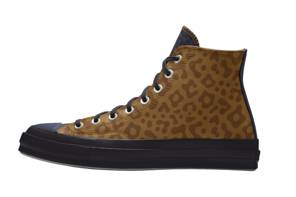 custom leather chuck 70, leopard print converse, high top converse