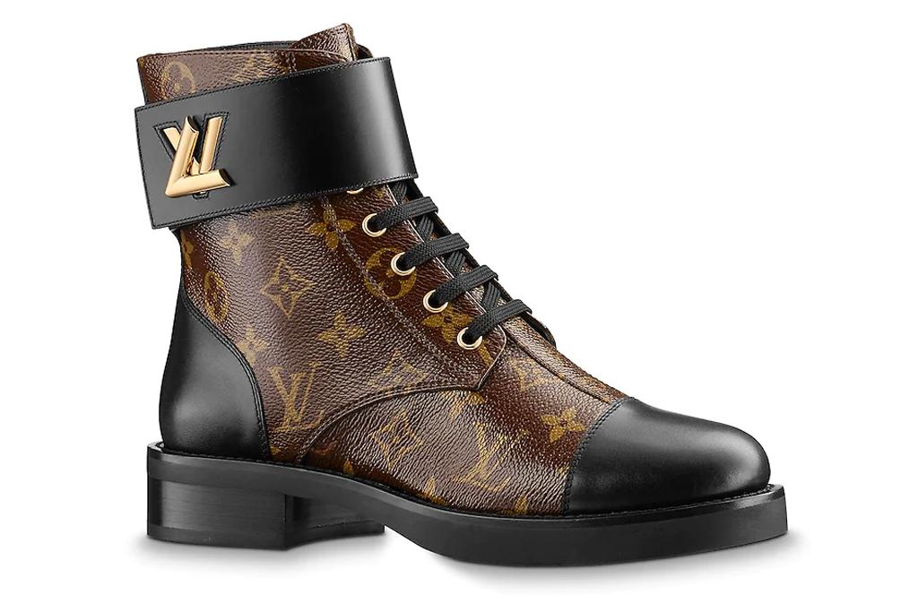 Louis Vuitton Wonderland Flat Ranger boots, boots, logo, louis vuitton, brown